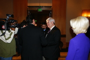 Newt Gingrich meets with supporters at The Airport Westin Hotel