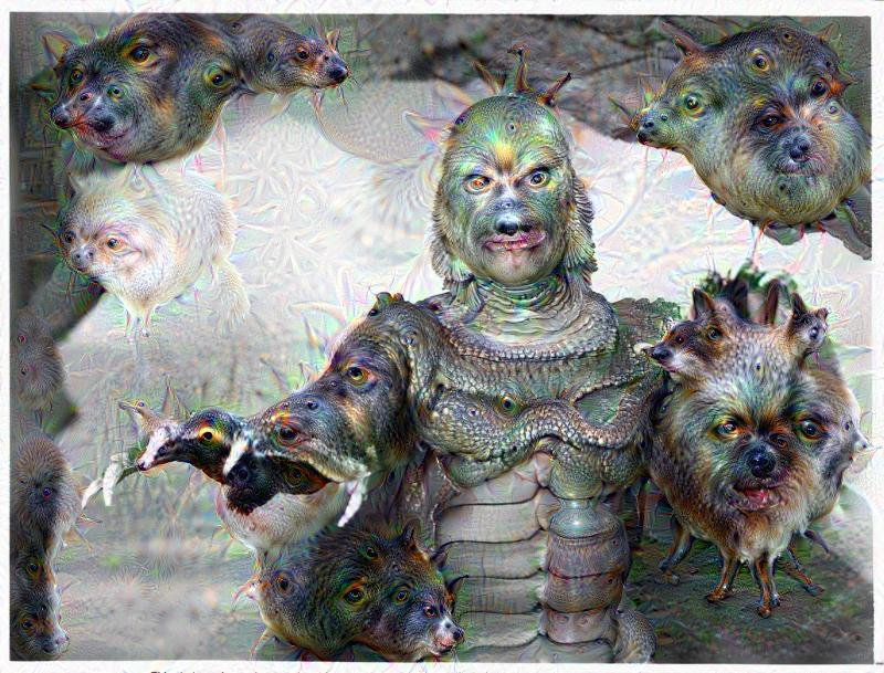 Deep Dream - Creature from the Black Lagoon
