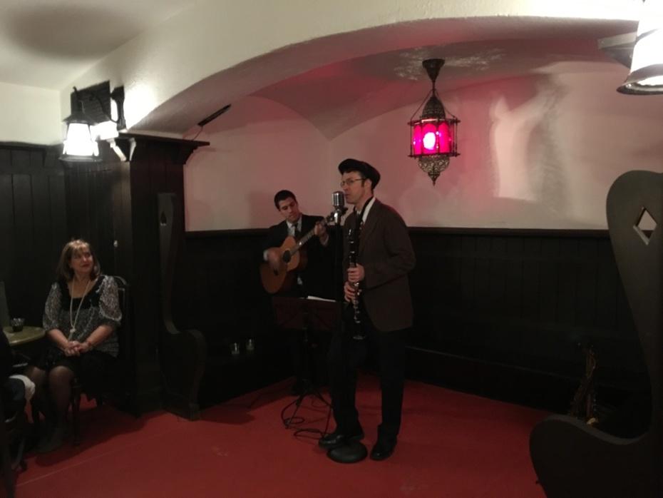 The Gin Canaries (duo-style) at the Glen Foerd underground speakeasy.