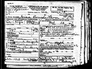 Great Grandfather Isaac Bonaparte Death Certificate - Calhoun County SC