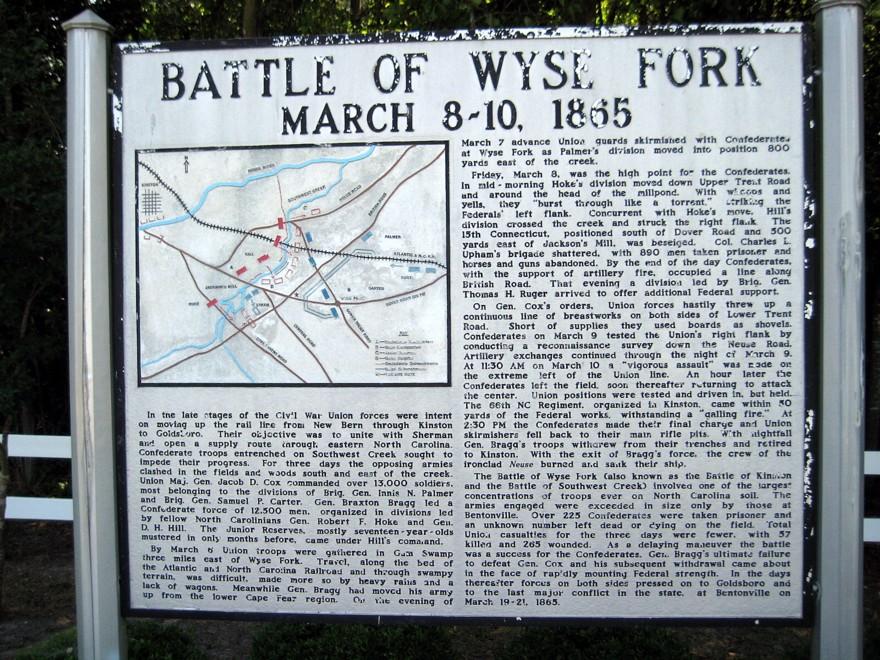 Civil War - Battle of Wyse Forks