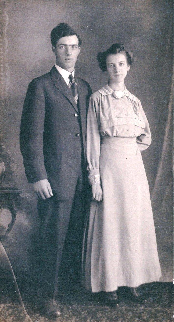 1915 Carl Clary Emery, Cretie Jane Ausmun