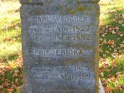 Carl Wascher an Friedericka Linow