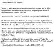 Death of Thomas E Dillon-1