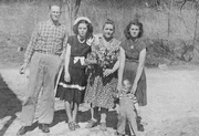 My Grandfather and aunt, and Grandmother and Mother and me