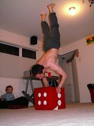 Handstand on cube