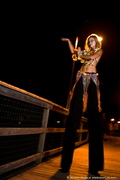 Tulip, the Hula stilted girl in Myrtle Beach.  She'll make you dance!