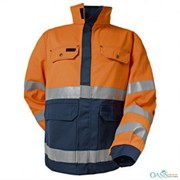 wholesale sleek orange designer jacket