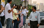 Egypt's first human chain against sexual harassment