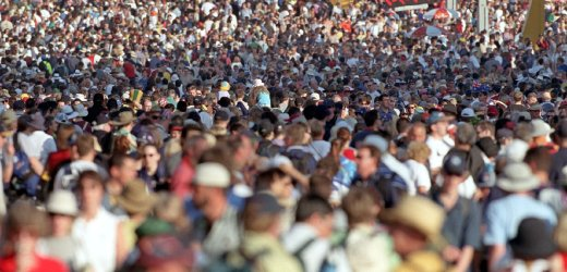 research of crowds of people