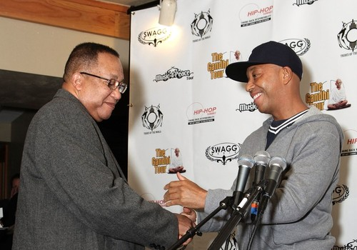Def Jam founder Russell Simmons, right, and civil rights leader Dr. Benjamin Chavis Jr.