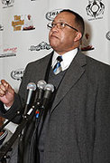 Civil Rights Leader Dr. Benjamin Chavis Jr.attends the Music 4 Peace Initiative Press conference