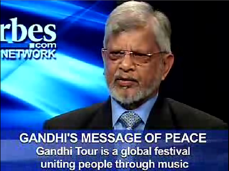 Music 4 Peace - Gandhi Tour and Dr. Arun Gandhi at Forbes TV