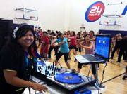 DJing @ 24 Hour Fitness, Huntington Beach Bella Tour for Hot Hula & Zumba