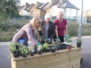 Herb Planters at Bowes Park Station