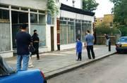Myddleton Road Wood Yard chaps play street cricket