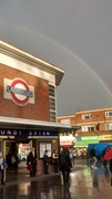 Bounds Green Tube rainbow - downpour Oct 2014