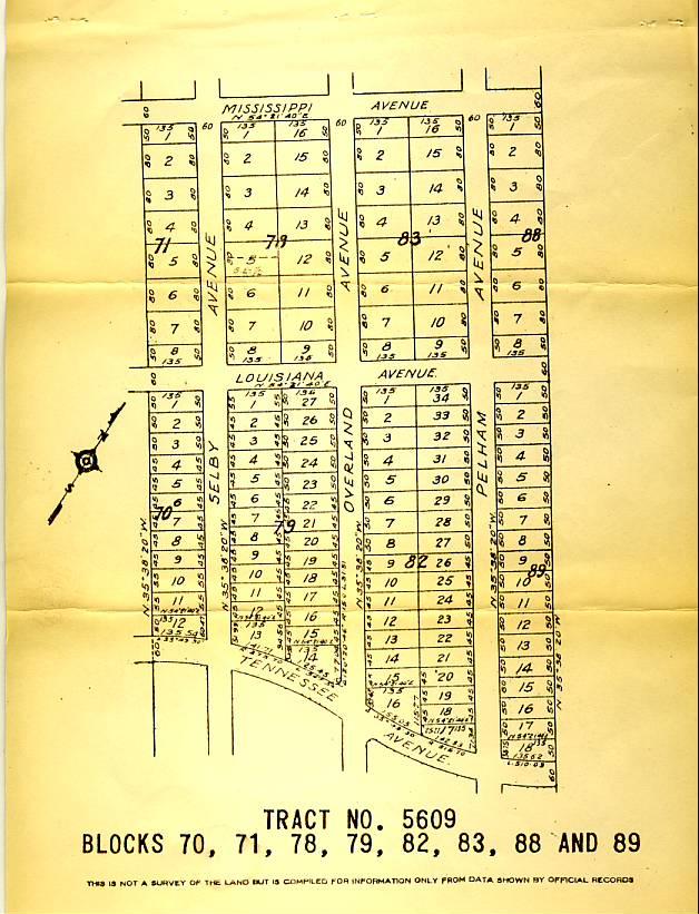 Plat Map Overland Avenue/Rancho Park