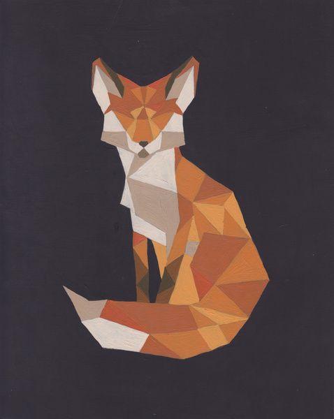 93fceaa8f6fc3f0df9d09713b98e44f5--triangle-art-fox-tails