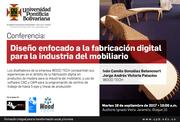Conferencia: Diseño enfocado a la fabricación digital para la industria del mobiliario