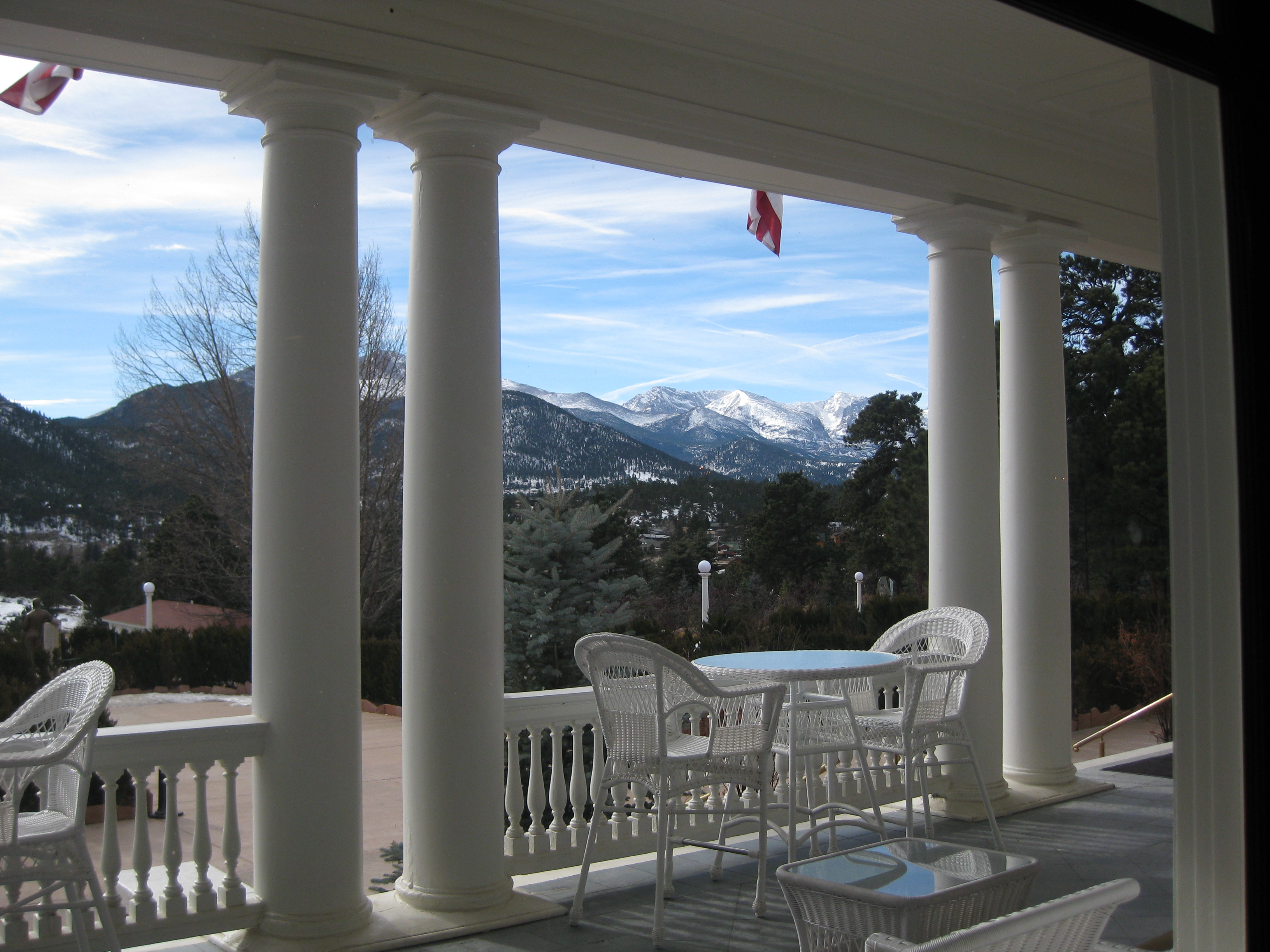 Rocky Mountain view from the Stanley Hotel Estes Park