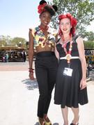 Angelique Noire and PUG fan