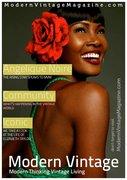 Angelique Noire Modern Vintage Magazine cover 2012
