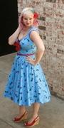 Heidi Dress in Cat Print