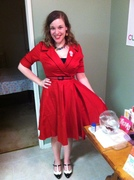 Red Haunted Housewife Dress