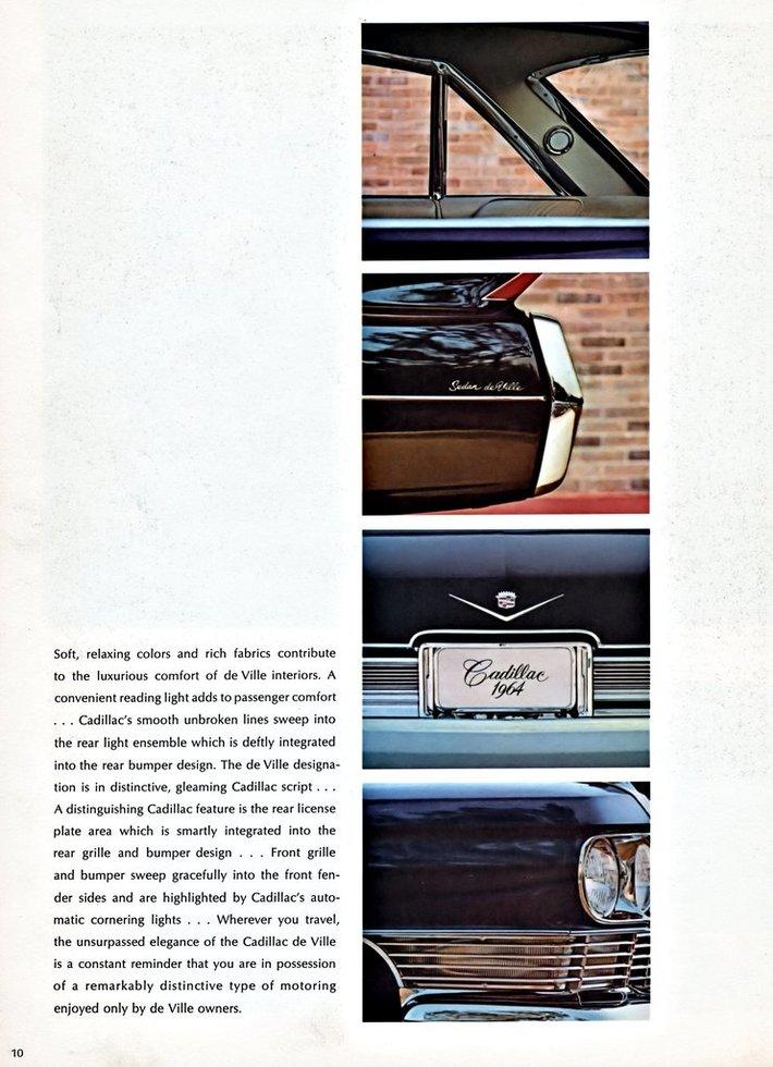1964 Cadillac Brochure Page 10
