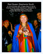 9.13.0.0.0.0– Kin 207–4 Ajaw (Dec. 21, 2012) Closing of the Cycle Palenque,Red Queen