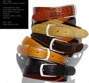 Belts - custom, leather & suede