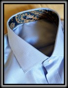 Custom shirt with contrasting interior fabric