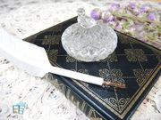 日本Deco無鉛水晶玻璃典藏款 - 一體成型小鳥墨水瓶(透明白)