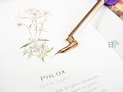 古典玫瑰金鵝毛沾水鋼筆
