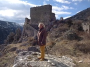 Up in the Alps at Greoliere by old church