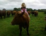 Kizzy riding Buttercup