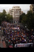 DEMONSTRATIONS IN SPAIN AGAINST THE MONARCHY.