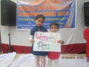 """""""An ordinary step for ensuring extraordinary peace"""" - An event on occasion of UN WIHW, 2014"""