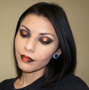 Black and Orange/Gold Bold makeup