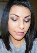 GREY AND PINK SHIMMER EYES