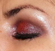 Deep Red/Purple Shimmery eyelook (closed lid)
