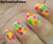 Color splash nail art