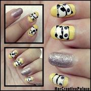 cute pandas nail art