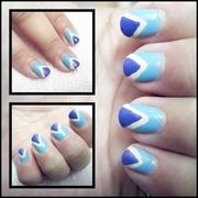 double triangle nail art