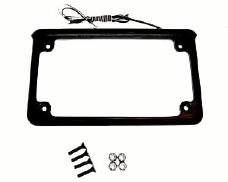 Black Horizontal LED Illuminated License Plate Frame