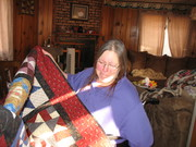 patricia with her quilt 006
