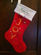 Addie's Christmas stocking front