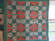 coon & mouse baby quilt