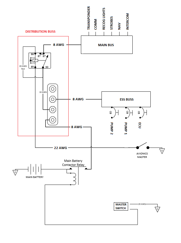 electrical basic system? - zenith aircraft builders and flyers on  aircraft lights diagram, saturn